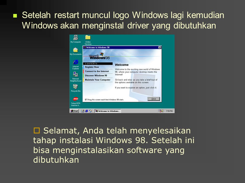 Setelah restart muncul logo Windows lagi kemudian Windows akan menginstal driver yang dibutuhkan