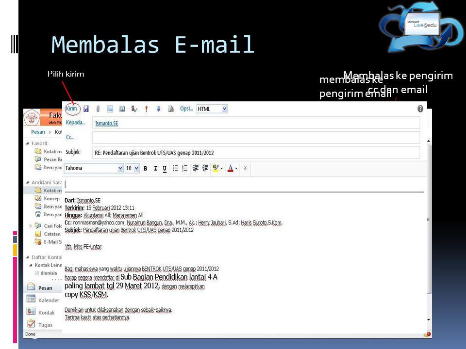 Membalas ke pengirim cc dan email