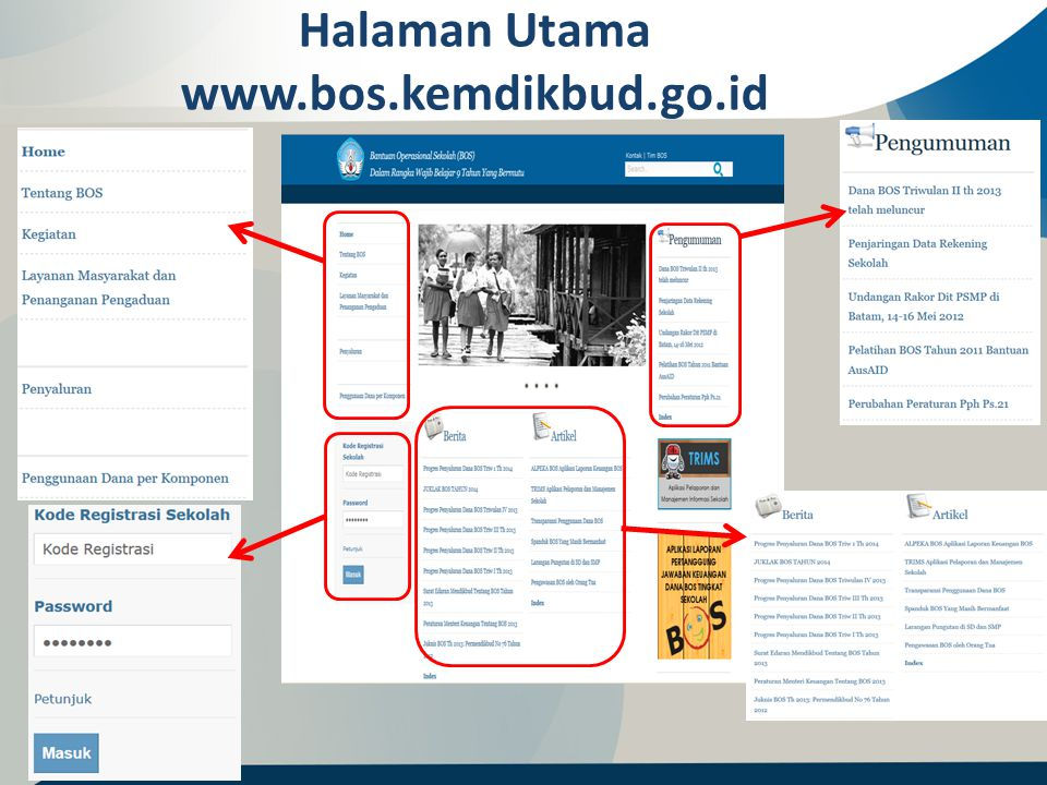 Halaman Utama www.bos.kemdikbud.go.id