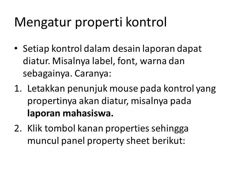 Mengatur properti kontrol