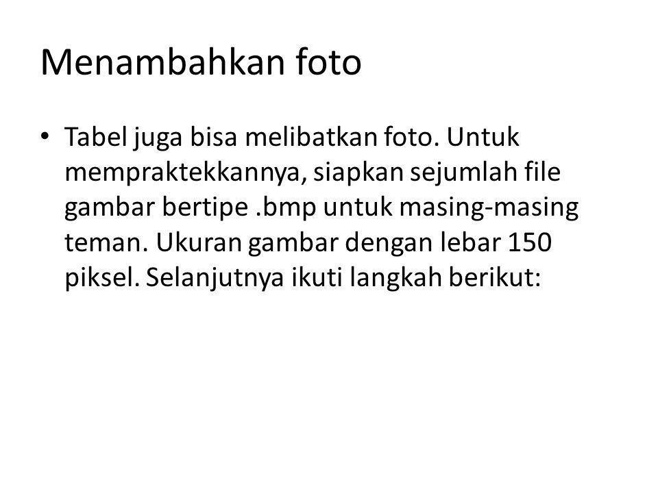Menambahkan foto