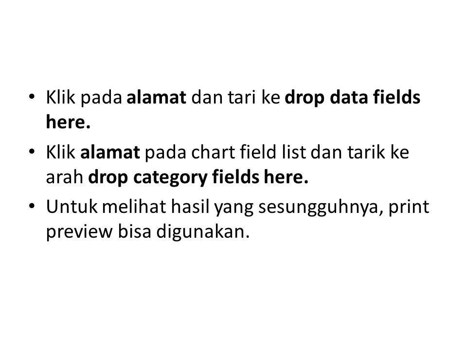 Klik pada alamat dan tari ke drop data fields here.