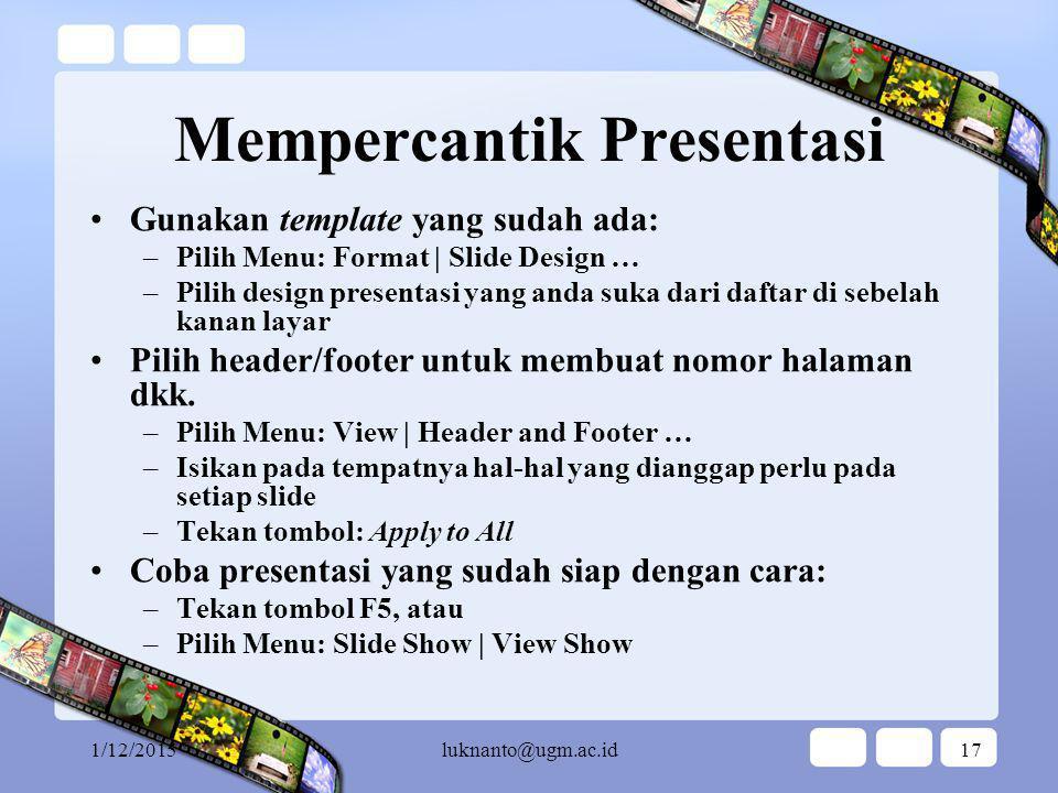 Mempercantik Presentasi