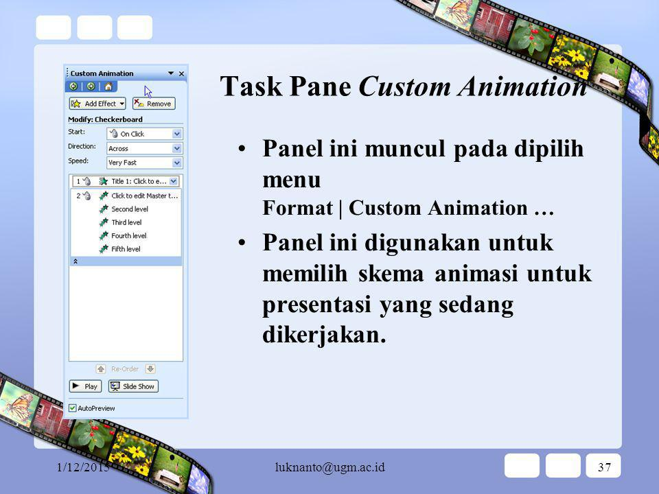 Task Pane Custom Animation