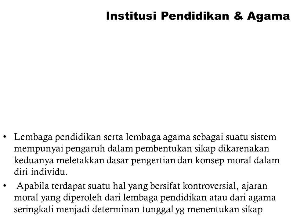 Institusi Pendidikan & Agama