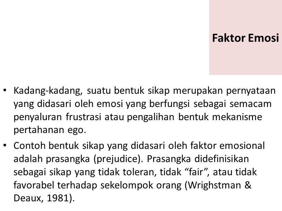Faktor Emosi