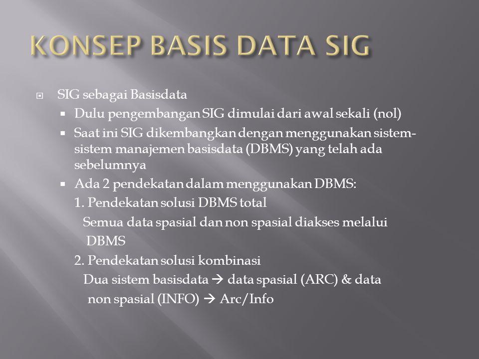 KONSEP BASIS DATA SIG SIG sebagai Basisdata