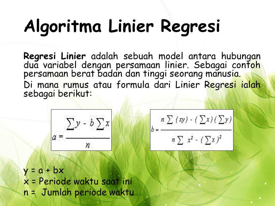 Algoritma Linier Regresi