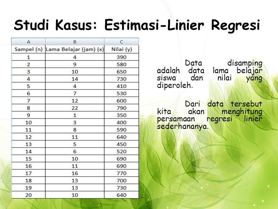 Studi Kasus: Estimasi-Linier Regresi