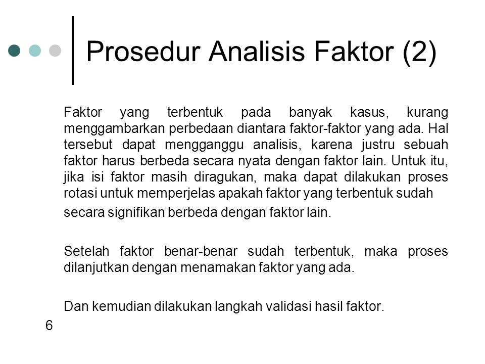 Prosedur Analisis Faktor (2)
