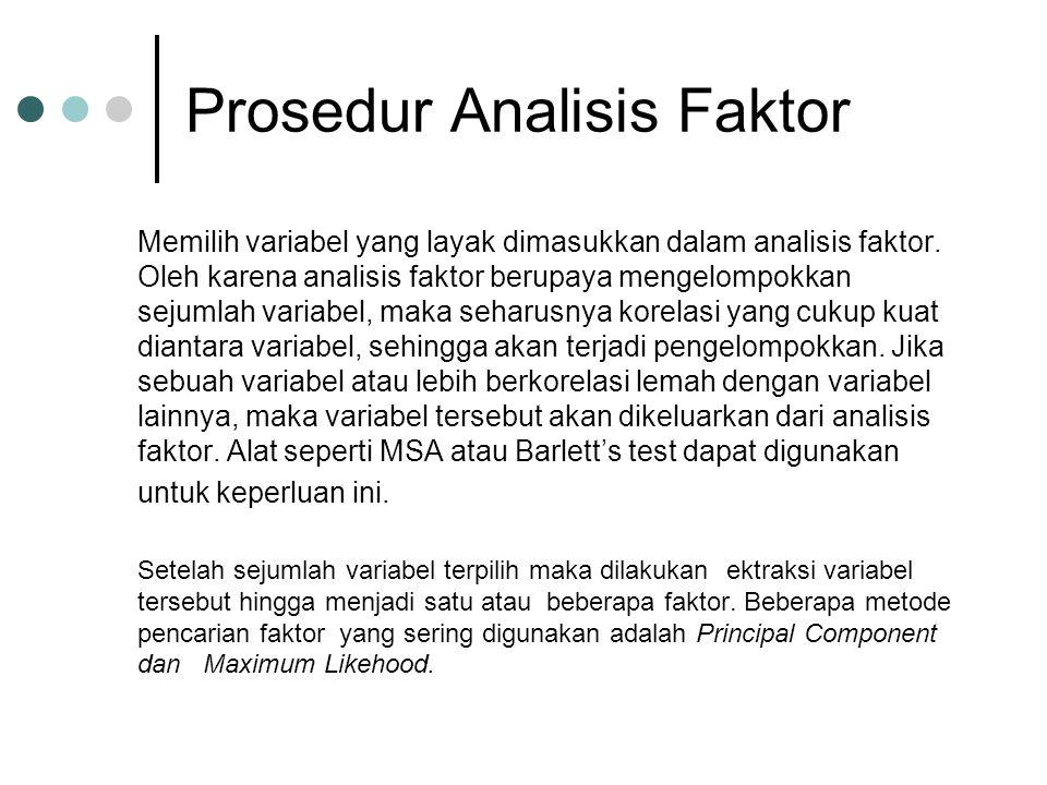 Prosedur Analisis Faktor