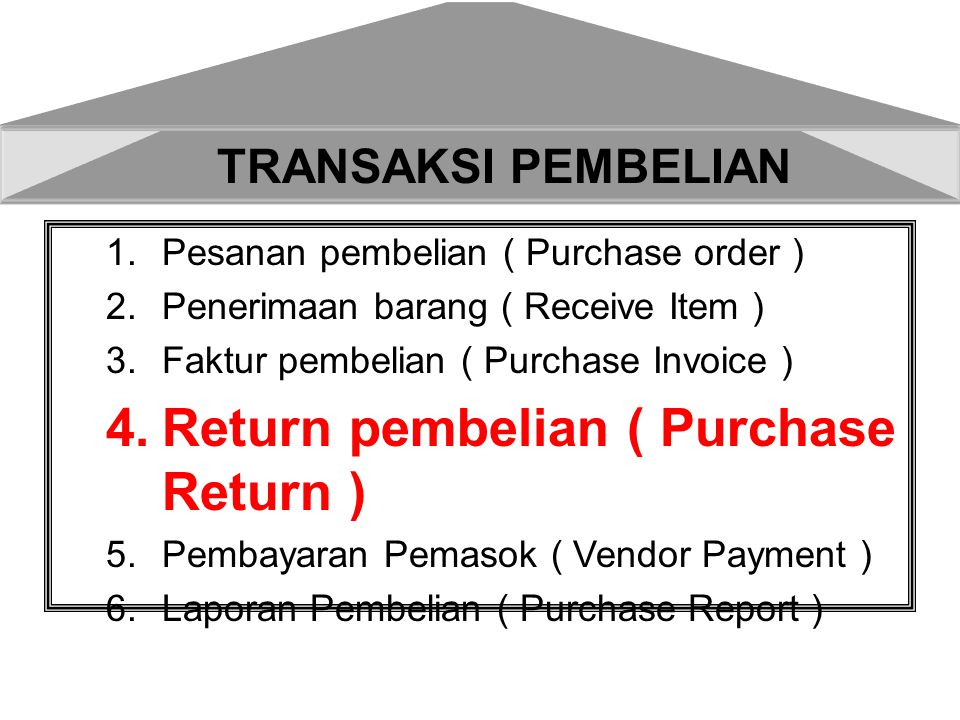 Return pembelian ( Purchase Return )