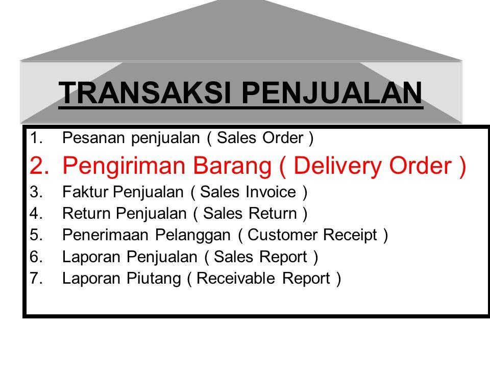 TRANSAKSI PENJUALAN Pengiriman Barang ( Delivery Order )