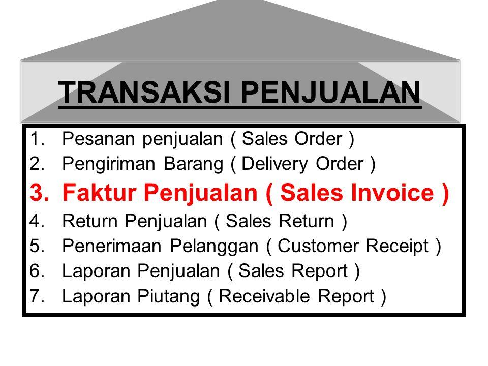 TRANSAKSI PENJUALAN Faktur Penjualan ( Sales Invoice )