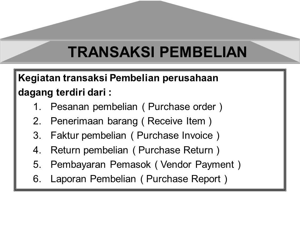 TRANSAKSI PEMBELIAN Kegiatan transaksi Pembelian perusahaan