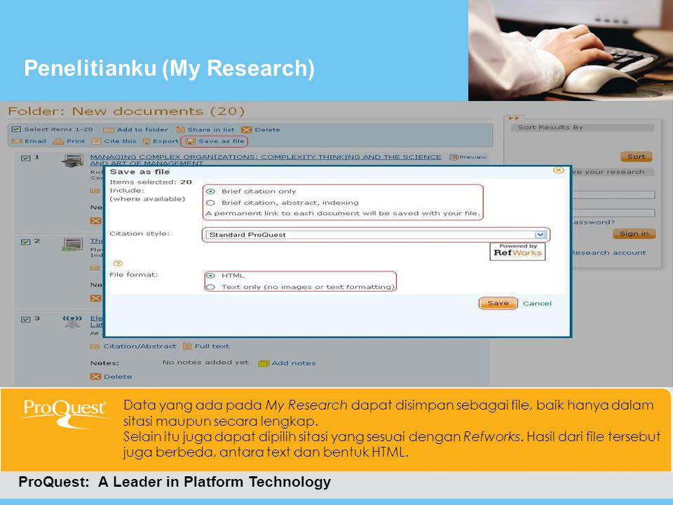 Penelitianku (My Research)