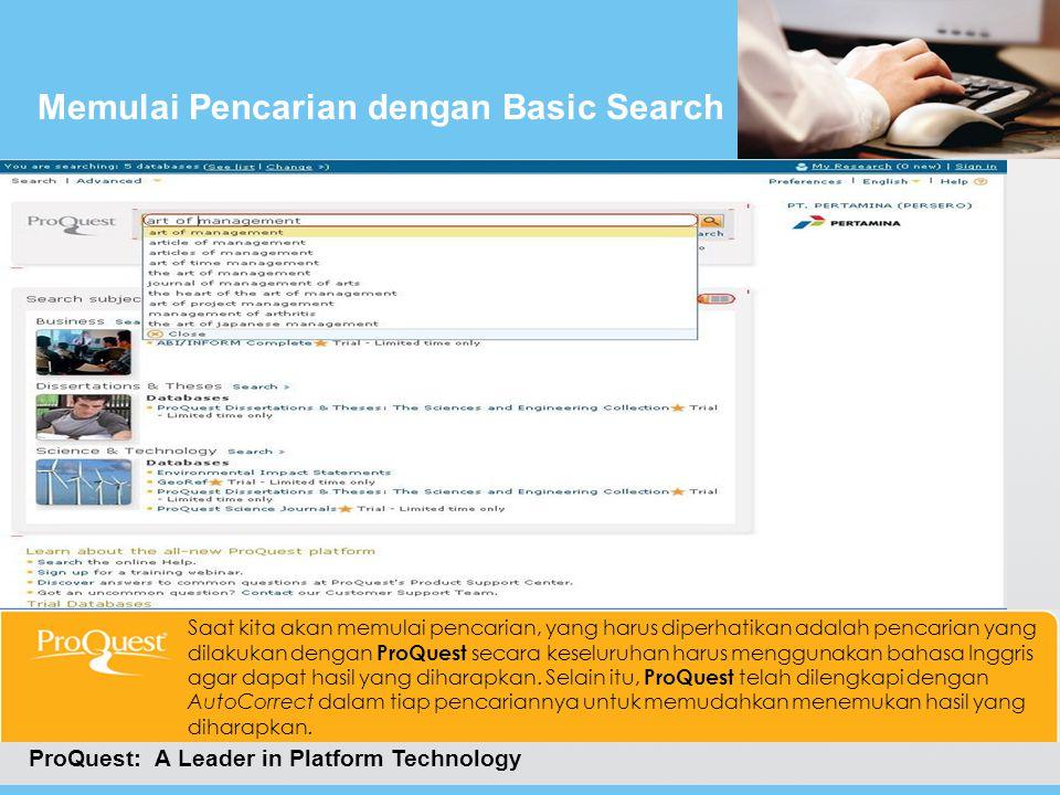 Memulai Pencarian dengan Basic Search