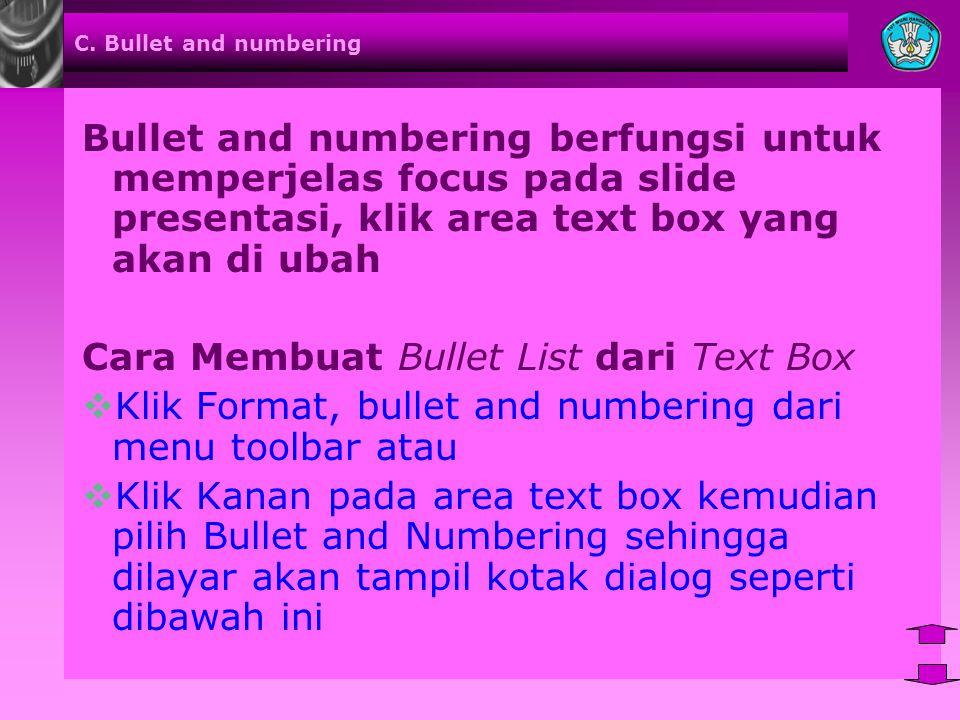 Cara Membuat Bullet List dari Text Box
