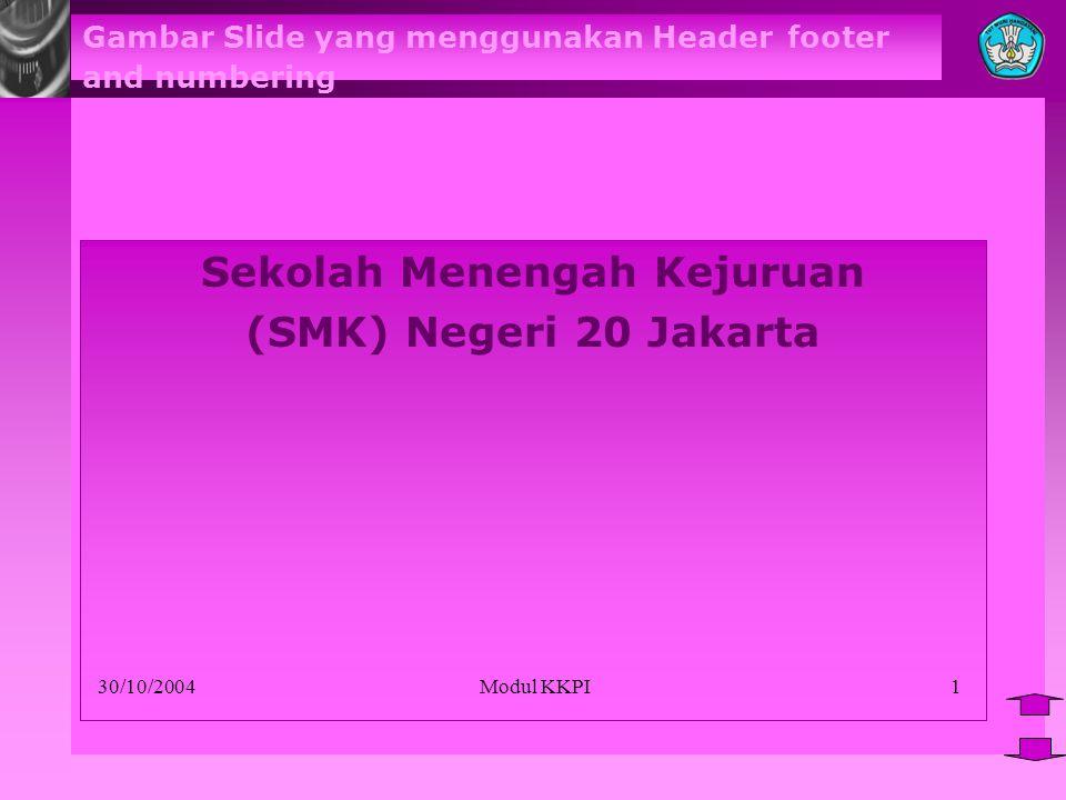 Gambar Slide yang menggunakan Header footer and numbering