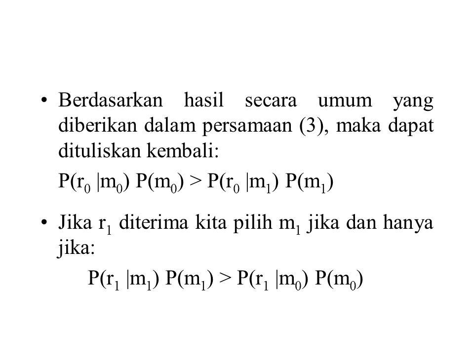 Berdasarkan hasil secara umum yang diberikan dalam persamaan (3), maka dapat dituliskan kembali: