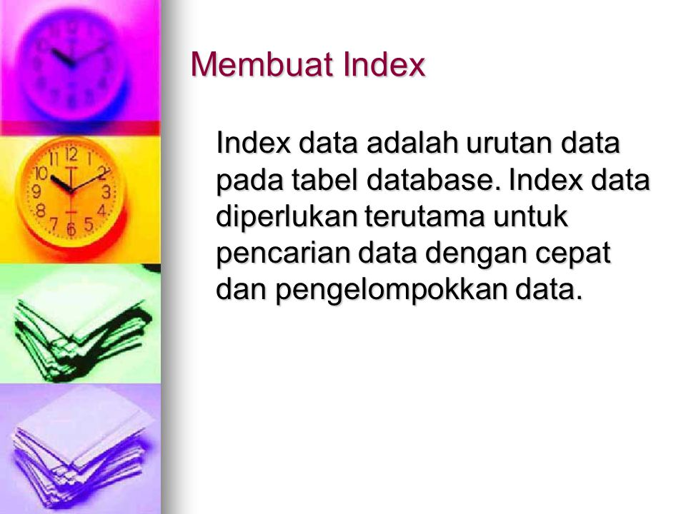 Membuat Index