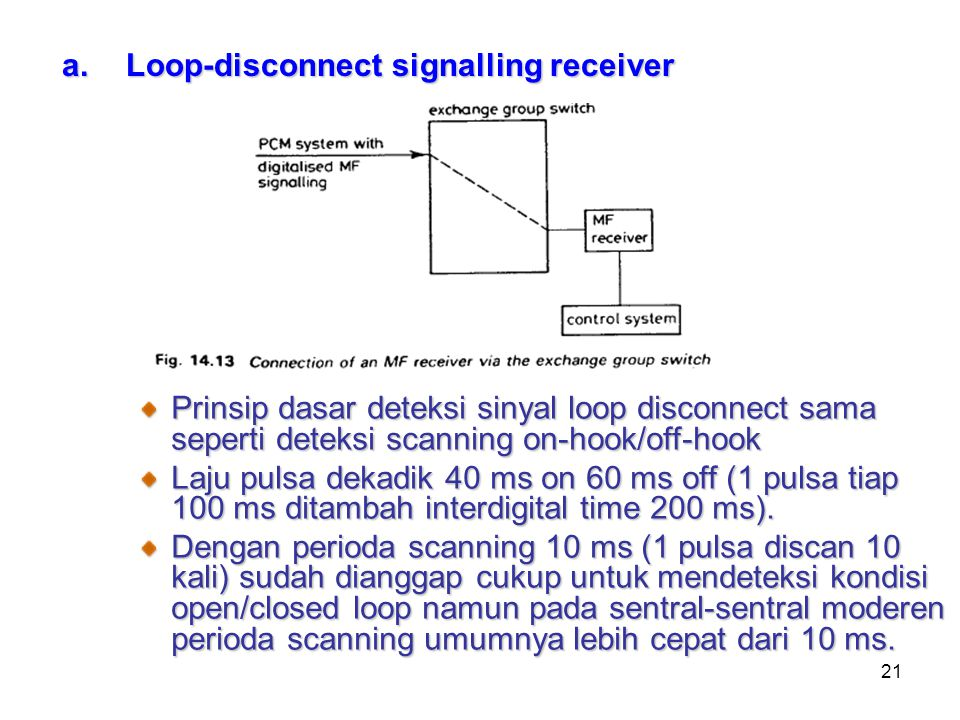 Loop-disconnect signalling receiver