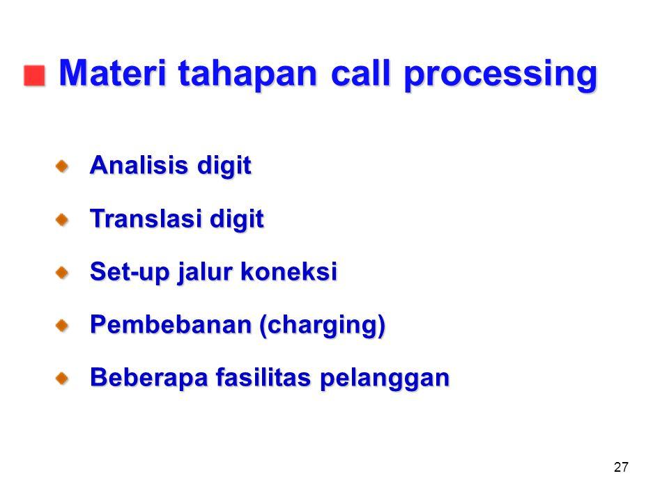 Materi tahapan call processing