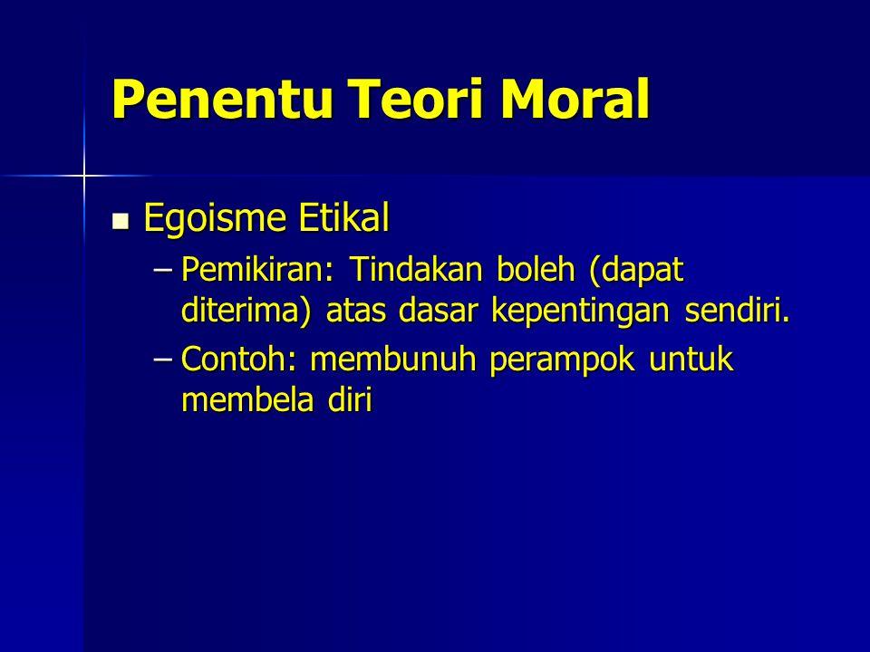 Penentu Teori Moral Egoisme Etikal