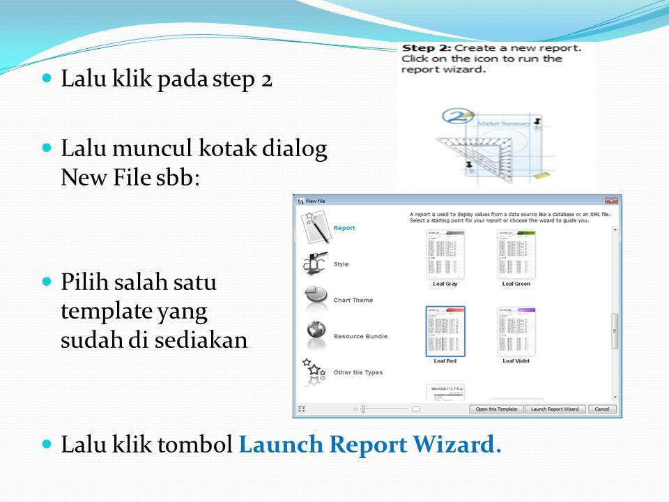 Lalu klik pada step 2 Lalu muncul kotak dialog New File sbb: Pilih salah satu template yang sudah di sediakan.