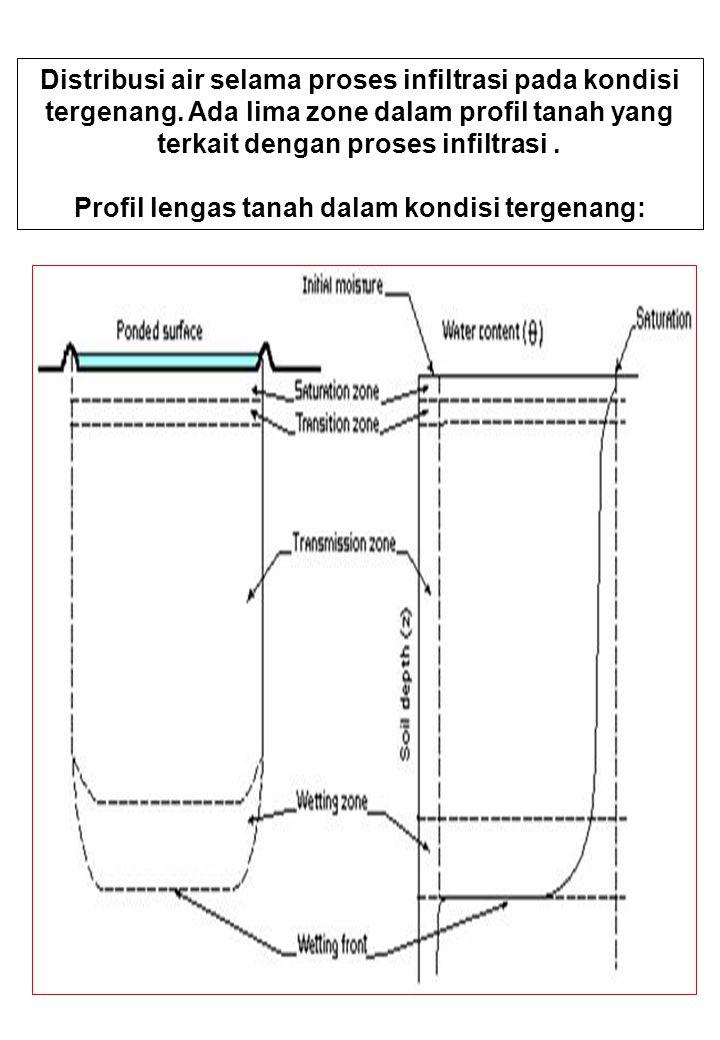 Profil lengas tanah dalam kondisi tergenang: