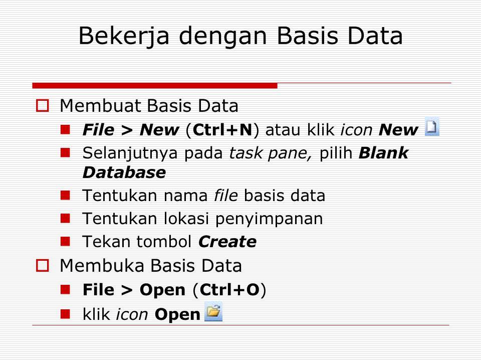 Bekerja dengan Basis Data