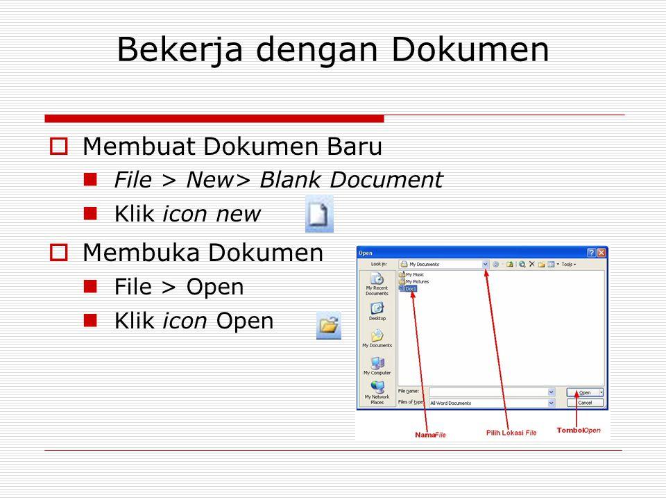 Bekerja dengan Dokumen