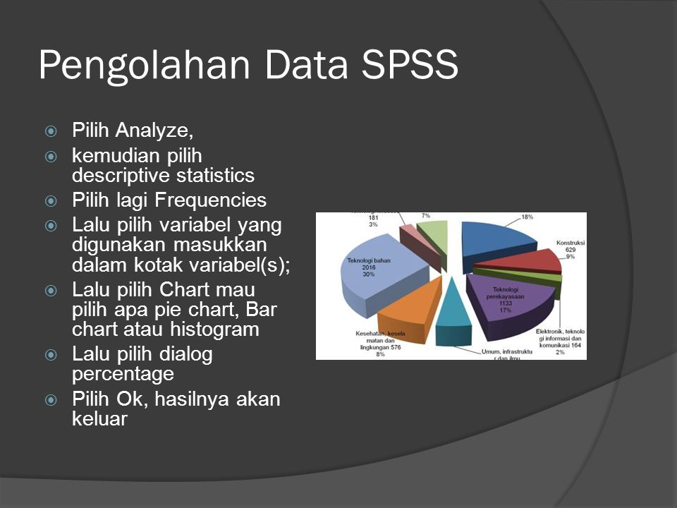 Pengolahan Data SPSS Pilih Analyze,