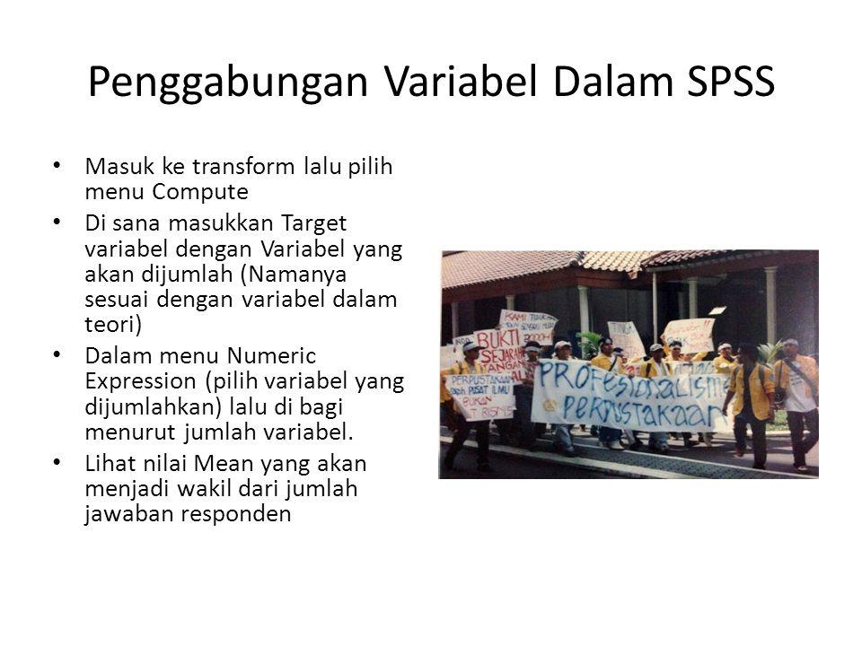 Penggabungan Variabel Dalam SPSS