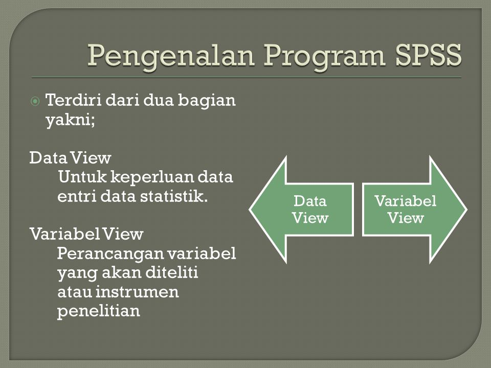 Pengenalan Program SPSS