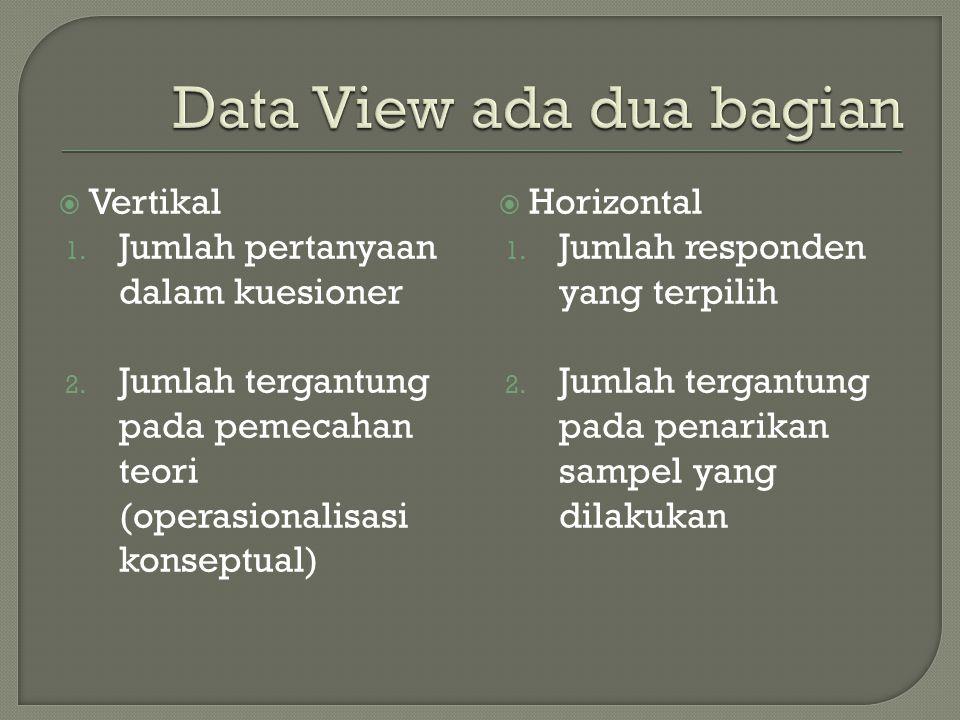 Data View ada dua bagian