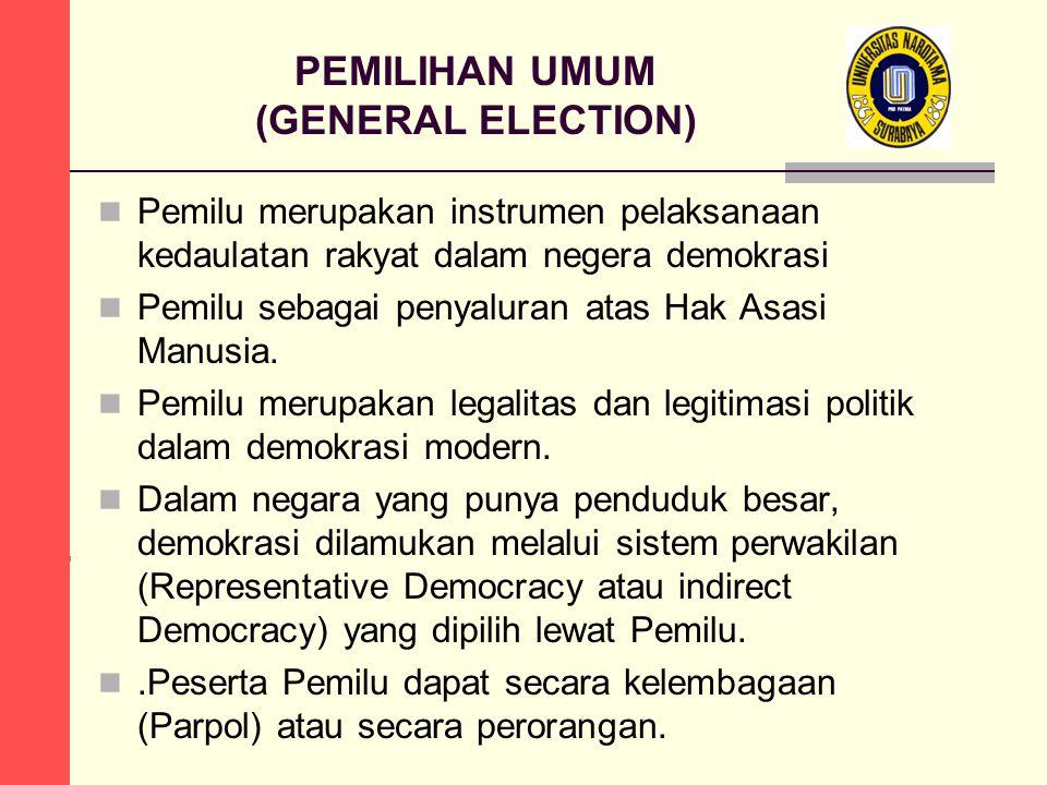 PEMILIHAN UMUM (GENERAL ELECTION)