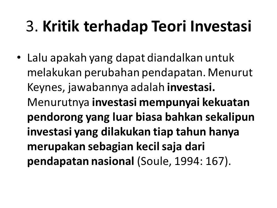 3. Kritik terhadap Teori Investasi