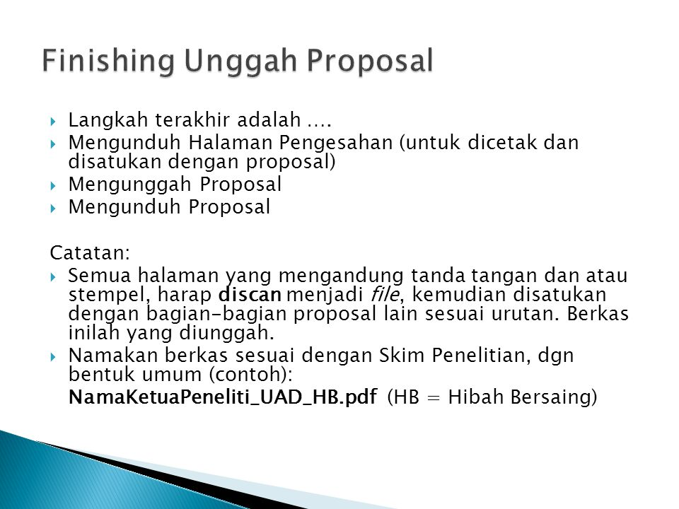 Finishing Unggah Proposal