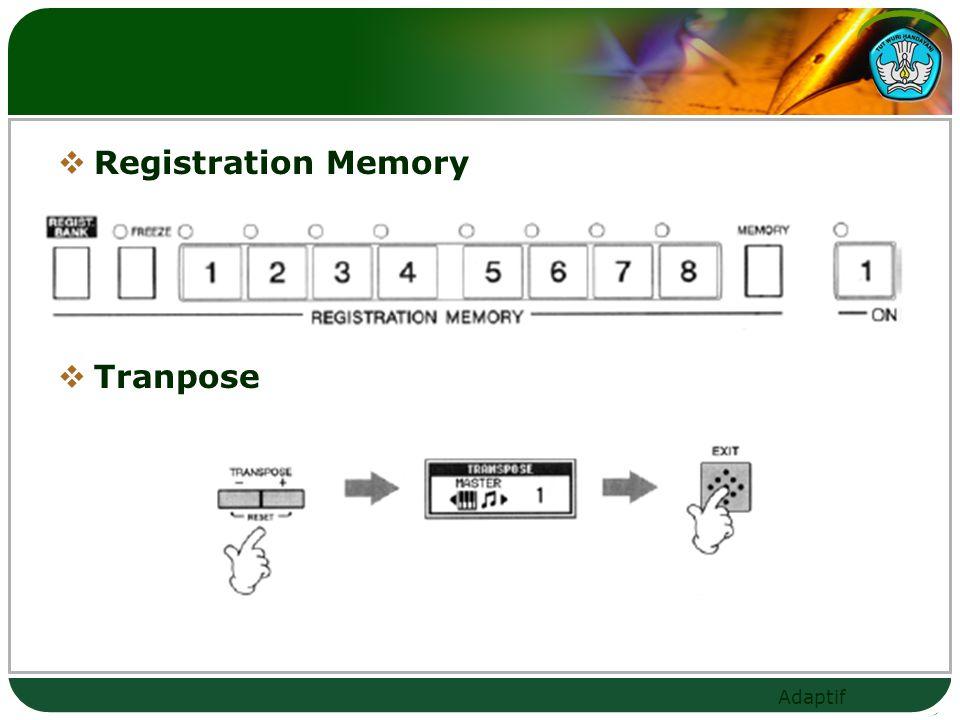Registration Memory Tranpose