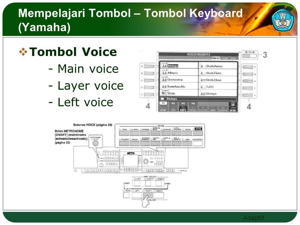 Mempelajari Tombol – Tombol Keyboard (Yamaha)