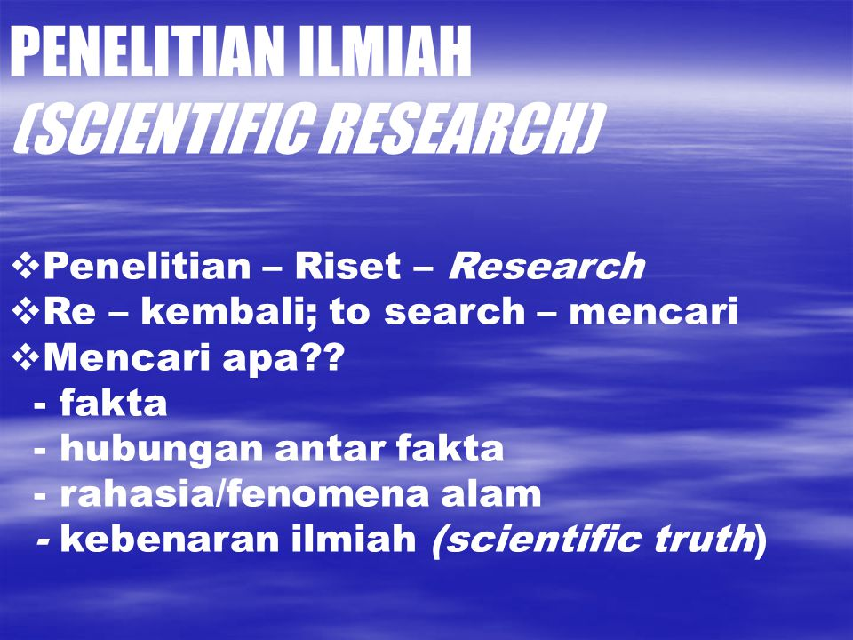 (SCIENTIFIC RESEARCH)