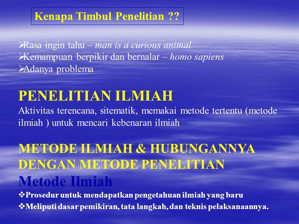 PENELITIAN ILMIAH Metode Ilmiah