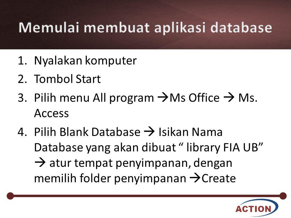Memulai membuat aplikasi database