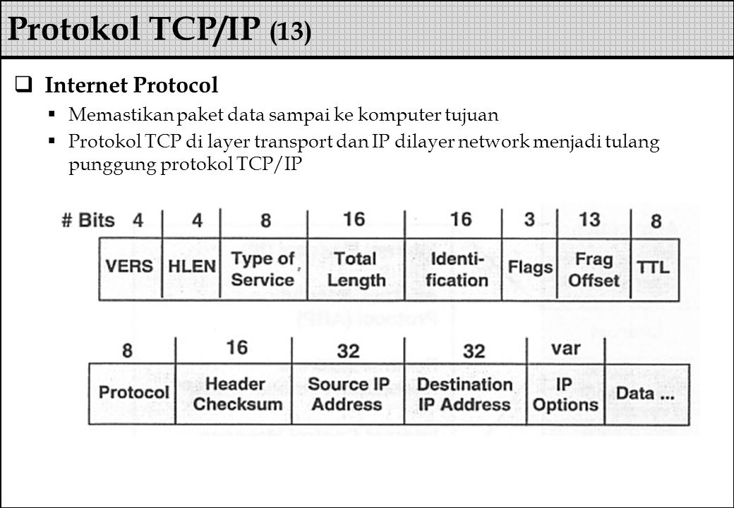 Protokol TCP/IP (13) Internet Protocol