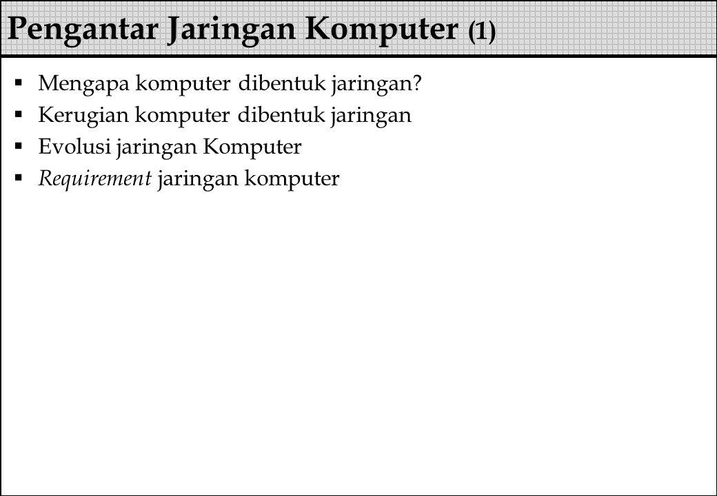 Pengantar Jaringan Komputer (1)