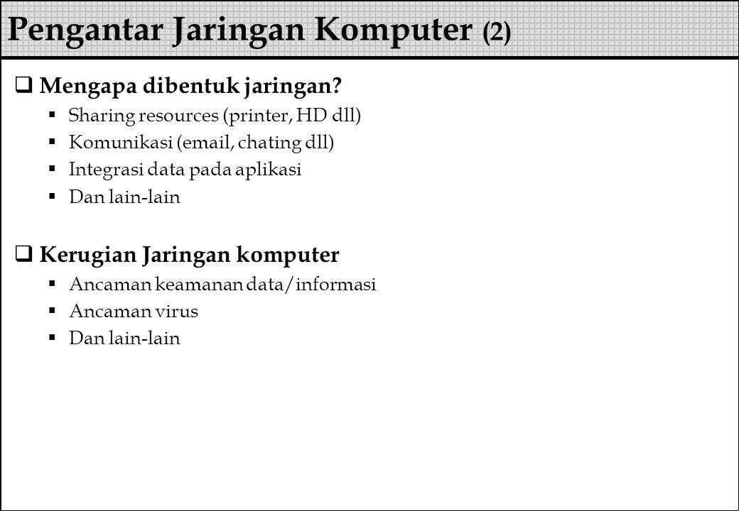 Pengantar Jaringan Komputer (2)