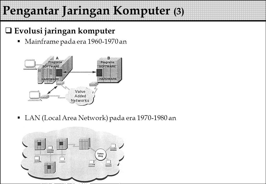 Pengantar Jaringan Komputer (3)