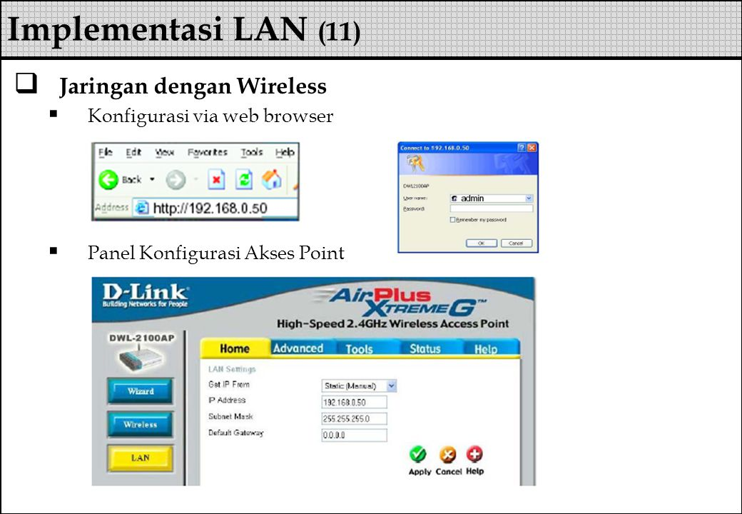 Implementasi LAN (11) Jaringan dengan Wireless
