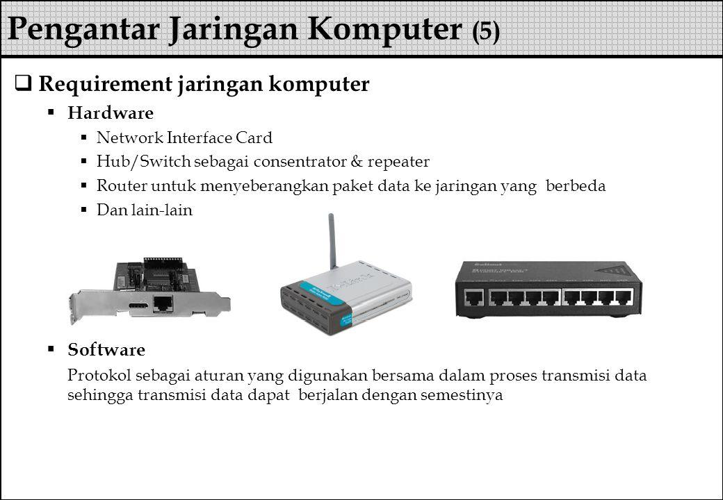 Pengantar Jaringan Komputer (5)